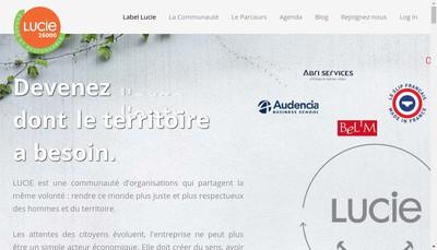Site internet de Agence Lucie
