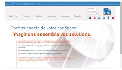 Site internet de Societe Nouvelle Label Print