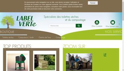 Site internet de Label Verte