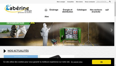 Site internet de Laberine Energie