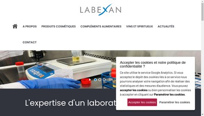 Site internet de Labexan