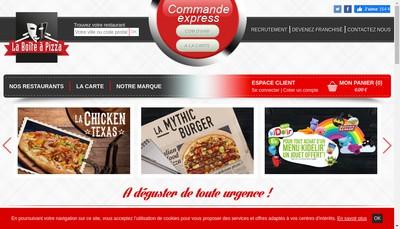 Site internet de La Boite a Pizzas