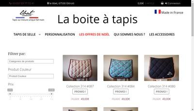 Site internet de La Boite a Tapis