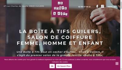 Site internet de La Boite a Tifs
