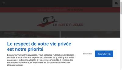 Site internet de La Boite a Velos SARL