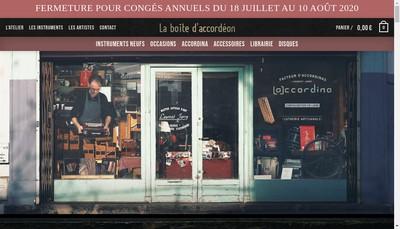 Site internet de La Boite d'Accordeon