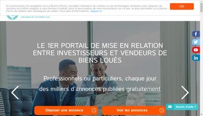 Site internet de La Bonne Pierre