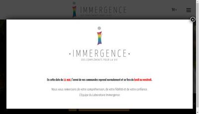 Site internet de Laboratoire Immergence