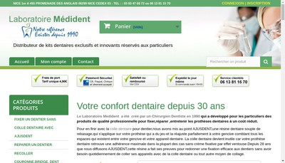 Site internet de Dentaire House - Laboratoire Medident