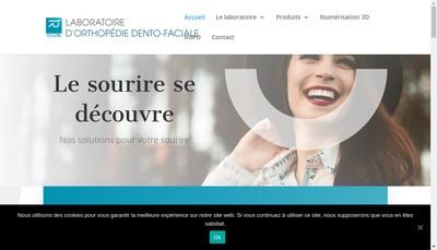 Site internet de Laboratoire d'Orthodontie Rouvre