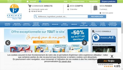 Site internet de Laboratoires Fenioux Plantes Medicinales