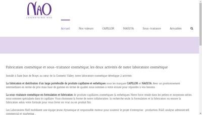 Site internet de Laboratoires Nao