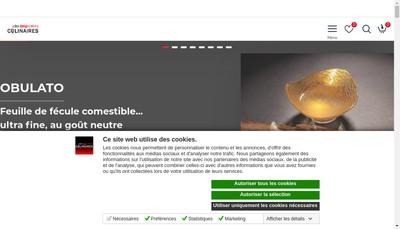 Site internet de La Boutique des Innovations Culinaires