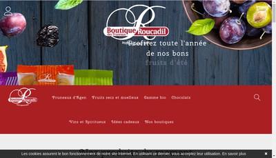 Site internet de La Boutique des Pruneaux