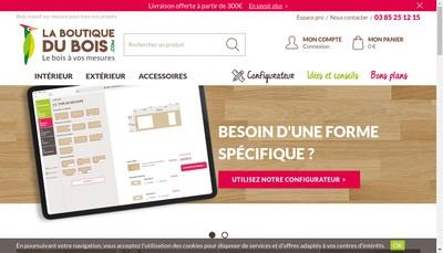 Site internet de La Boutique du Bois