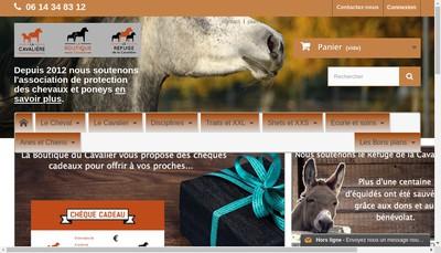 Site internet de La boutique du Cavalier