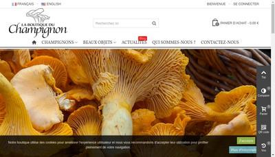 Site internet de La Boutique du Champignon