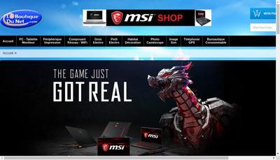 Site internet de La Boutique du Net