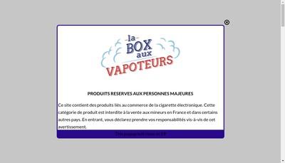 Site internet de La Box aux Vapoteurs