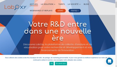 Site internet de Laboxy