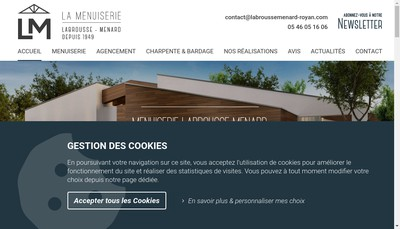 Site internet de Entreprise Labrousse Menard