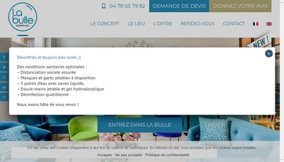 Site internet de La Bulle Workplace