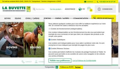 Site internet de La Buvette