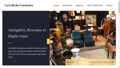 Site internet de La Caleche Caennaise