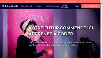 Site internet de La Capsule