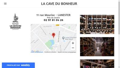 Site internet de La Cave du Bonheur