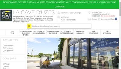 Site internet de La Cave d'Uzes