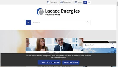 Site internet de Lacaze Energies