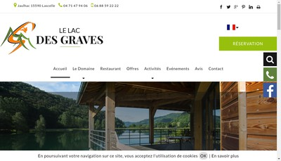 Site internet de Le Lac des Graves
