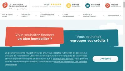 Site internet de La Centrale de Financement