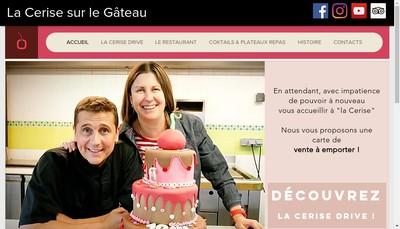 Site internet de La Cerise sur le Gateau