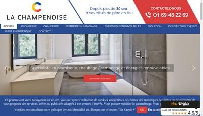 Site internet de La Champenoise