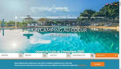 Site internet de Camping la Chapouillere