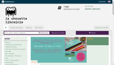 Site internet de La Chouette Librairie