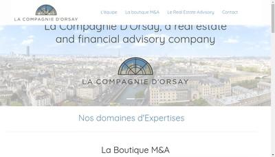 Site internet de La Compagnie d'Orsay