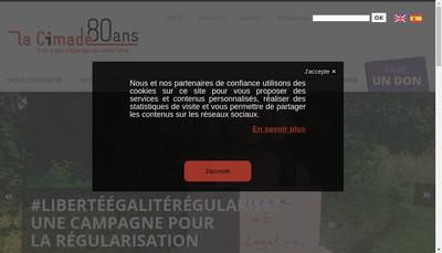 Site internet de Cimade - Service Oecumenique d'Entraide