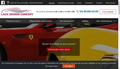 Site internet de Lack Design Concept
