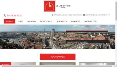 Site internet de La Cle en Nord