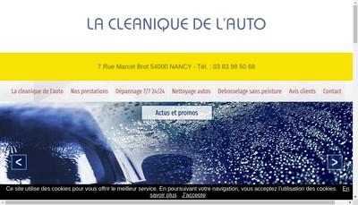 Site internet de La Cleanique de l'Auto