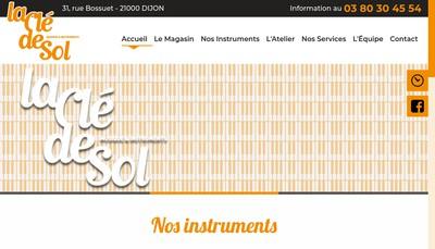 Site internet de La Cle de Sol
