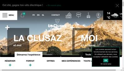 Site internet de Societe de Gestion des Activites Touristiques de la Clusaz