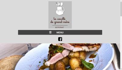 Site internet de La Cocotte de Grand Mere