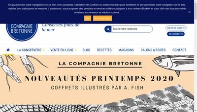 Site internet de La Compagnie Bretonne