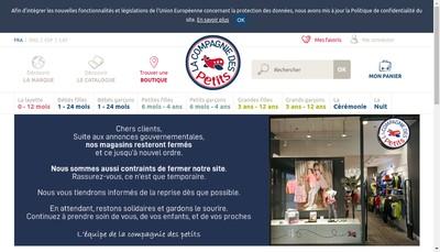 Site internet de La Compagnie des Petits