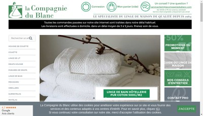 Site internet de Compagnie du Blanc