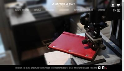 Site internet de Papier & Cie